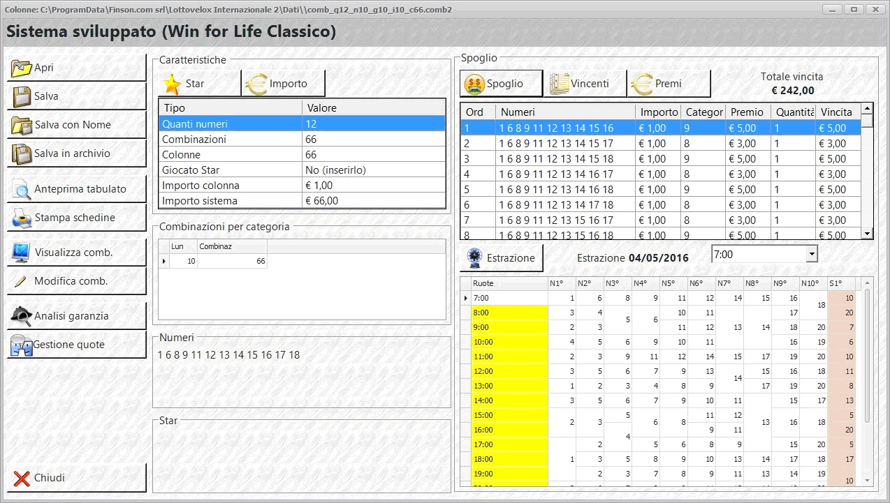 FINSON WINFORLIFE 2 PER WINDOWS - schermata 1